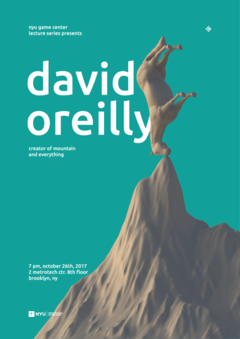 David Oreilly event poster at nyu game center lecture series
