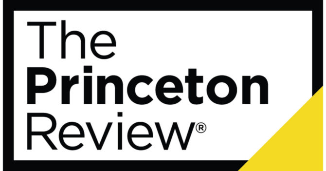 "Rectangular text box that reads ""The Princeton Review"""